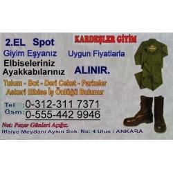 Kartvizit-Kardeşler Giyim-Ankara 2.El Elbise Ayakkabı Alım Satımı
