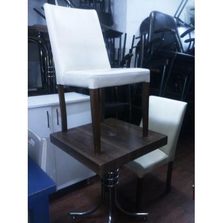 Cafe Masa Sandalye Takımı Kahverengi 2.El-Vural Ticaret