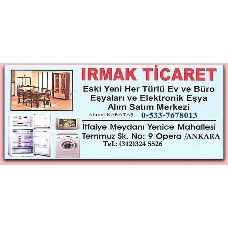 Kartvizit-Irmak Ticaret-Ankara İkinci El Ev Eşyası Mobilya Alan Satan Mağaza