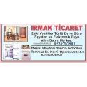 Kartvizit-Irmak Ticaret-Ankara İkinci El Ev Büro Eşyası Alan Satan Mağaza