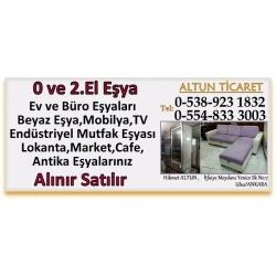 Kartvizit-Altun Ticaret-Ankara 2.El Endüstriyel Mutfak,Ev ve Büro Eşyası Alan Satan