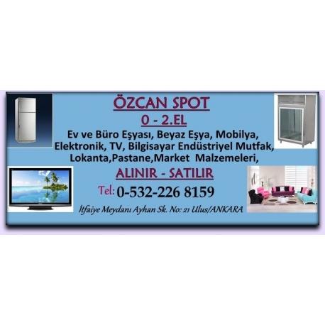 Kartvizit-Özcan Spot-Ankara 2.El Ev ve Büro Eşyası Alım Satım Mağazası