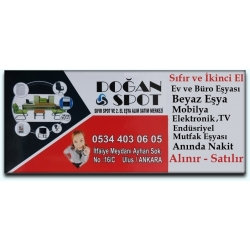 Kartvizit-Doğan Spot-Ankara İkinci El Ev  Büro Eşyası Alan Satan Mağaza