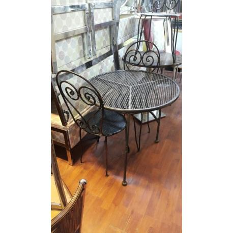 Cafe Masa Sandalye Takımı Krem, 2.El-Vural Ticaret