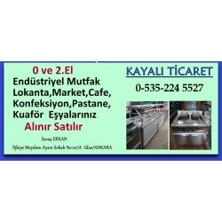 Kartvizit-Kayalı Ticaret-Ankara İkinci El Endüstriyel Mutfak Eşyası,market,lokanta,dersane,kuaför eşyası alan satan