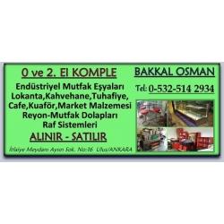 Kartvizit-Bakkal Osman-Ankara İkinci El Endüstriyel Mutfak Eşyası,market,lokanta,kuaför,dersane,konfeksiyon eşyası Alan Satan
