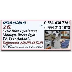 Kartvizit-Okur Mobilya-Ankara İkinci El Ev  Büro Eşyası Alan Satan Mağaza