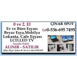 Kartvizit-Çınar Spot İkinci El Eşya, El Ev ve Büro Eşyası Alan Satan Mağaza
