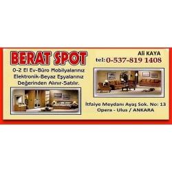 Kartvizit-Berat Ticaret- Ankara İkinci El Ev ve Büro Eşyası Alan Satan Firma