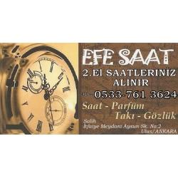 Kartvizit- Efe Saat -Ankara 2.el saat alan satan mağaza, ikinci el saatçi