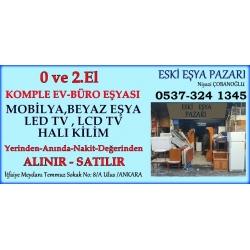 Eski Eşya Pazarı-Ankara 2.El Büro Ofis Mobilyaları Ev Eşyası Alan Satan