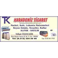 Karadeniz Ticaret-Ankara İkinci El Endüstriyel Mutfak Ekipmanları Ürünleri Alan Satan