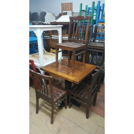 Cafe Masa Sandalye Takımı Turuncu, 2.El-Vural Ticaret