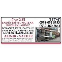 Kartvizit- ZETAŞ Ticaret - Ankara 2.El Endüstriyel Mutfak Eşyası,market,restorant malzemesi ve ekipmanları alan satan mağaza