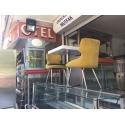 Beyaz Masa ve Sarı Sandalye Takımı - Mutsan Endüstriyel