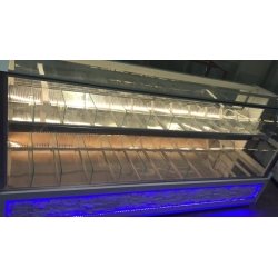 2.5 metre led aydınlatmalı kuruyemiş dolabı - Emir Soğutma
