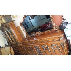 Eskitme El İşi Oyma Koltuk Salon Takımı Konsol 2.El - Özcanlar Mobilya