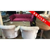 Avangard Chester Cafe Masa Sandalye Takımı 2.El - Vural Ticaret