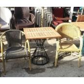 Cafe Masa Sandalye Takımı Rattan 2.El-Vural Ticaret