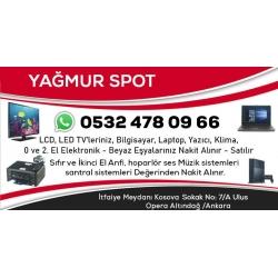 Ankara 2.El - 0 Laptop Bilgisayar Elektronik Eşya Alan Satan Mağaza - Yağmur Spot Kartvizit