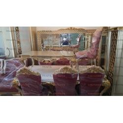 El Yapımı Altın Varaklı Avangard Mobilya Takımı Yatak Odası Salon Yemek Odası