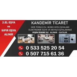Kartvizit- Kandemir Ticaret-Ankara İkinci El Ev Büro Eşyası Alan Satan Mağaza