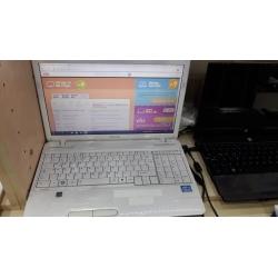 2.El Toshiba Satallite Beyaz Laptop Eba Zoom Uyumlu - Yağmur Spot