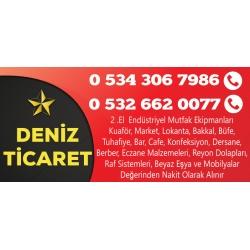 Kartvizit-Deniz Ticaret -Ankara ikinci el endüstriyel mutfak eşyası,market,restorant,kuaför eşyası alım satım mağazası