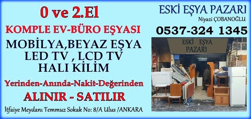 Ankara 2.El Ev ve Büro Mobilyası Beyaz Eşya Alım Satımı Yapan Mağaza