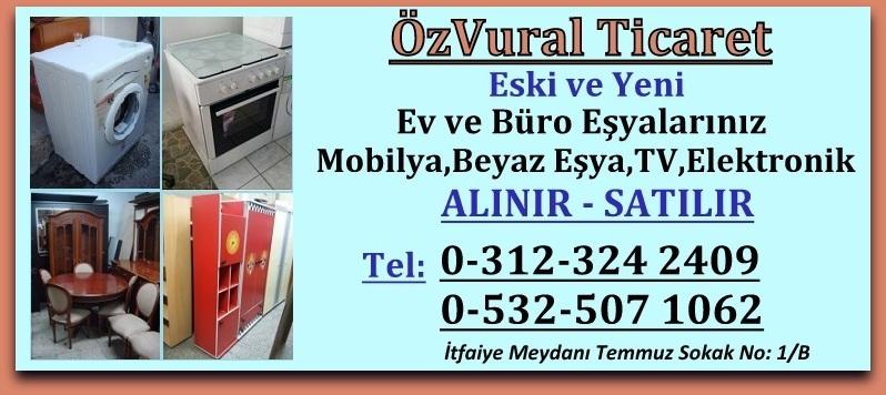 Ankara İkinci El Ev ve Büro Eşyası Mobilya Beyaz Eşya Alan Satan Mağaza