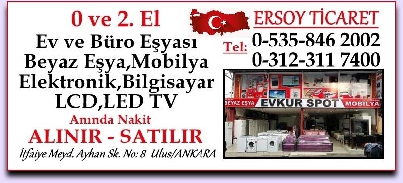 Ankara İkinci El Beyaz Eşya Mobilya Halı TV  Elektronik Alan Satan Mağaza