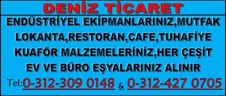 Ankara ikinci el endüstriyel mutfak eşyası,market,restorant,kuaför eşyası alım satım mağazası